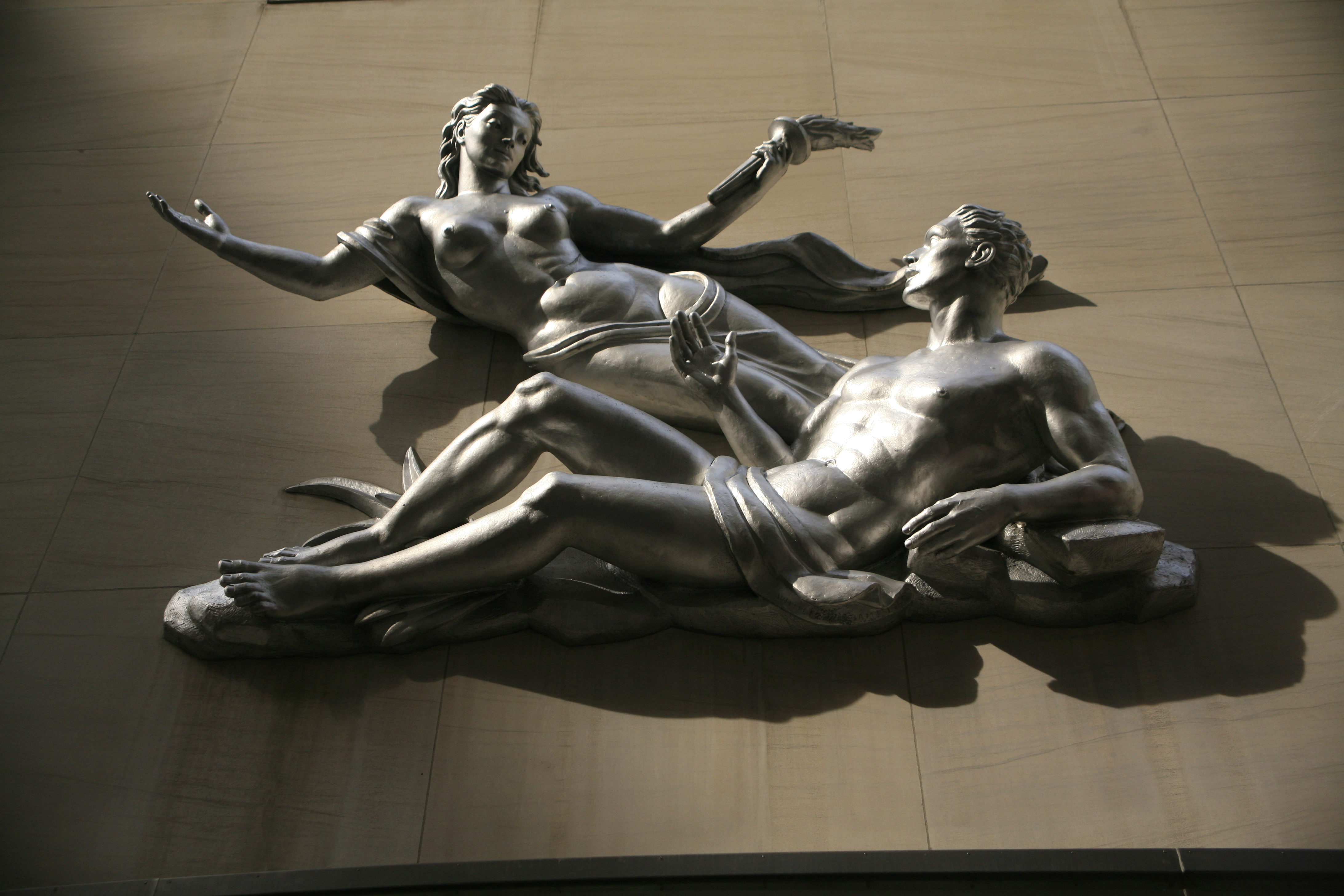 A photo of statues at Rockefeller Center in New York City
