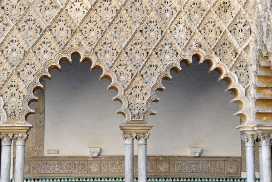 ornate stone archways